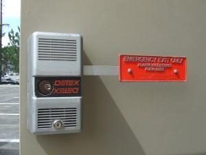 detex alarm lock on door