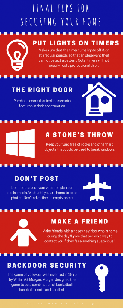 Final Tips For Securing Your Home
